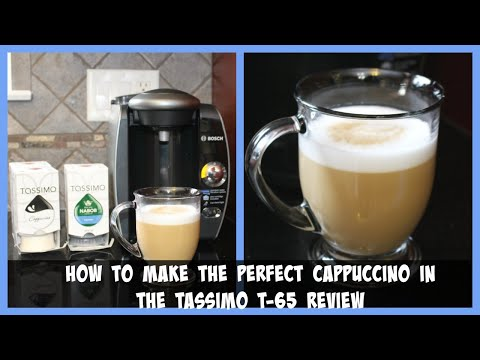 How to make the perfect cappuccino in the Tassimo T-65 review
