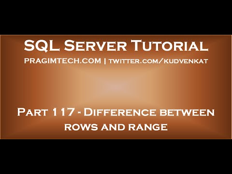 Difference between rows and range