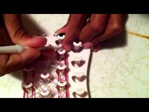 Fun loom cotton candy cobra bracelet