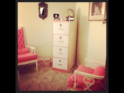 Diy Fun Make A Metal File Cabinet Into A Nice Accent Piece For Any Ro