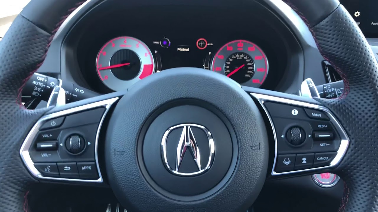 Customizing the Apps in the 2019 Acura RDX instrument panel DM
