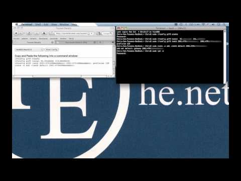 he.net Webcast 22 - IPv6 on your home computer in 5 minutes or less (Mac OSX) [Tunnel Broker]