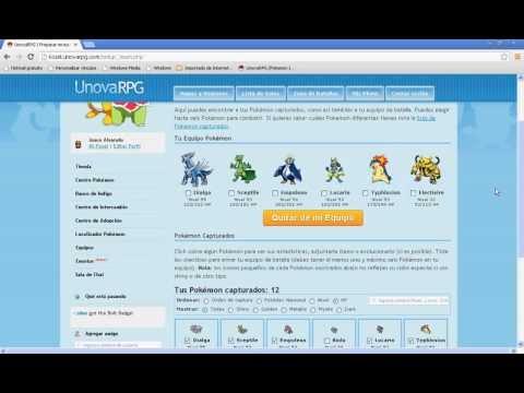 Cuenta de Pokémon Raros de UnovaRPG para intercambiar