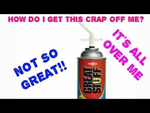 How to get spray foam off your hands