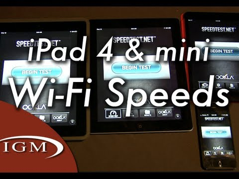 WiFi Speed Improvements: iPad 4, iPad mini Dual-Band WiFi