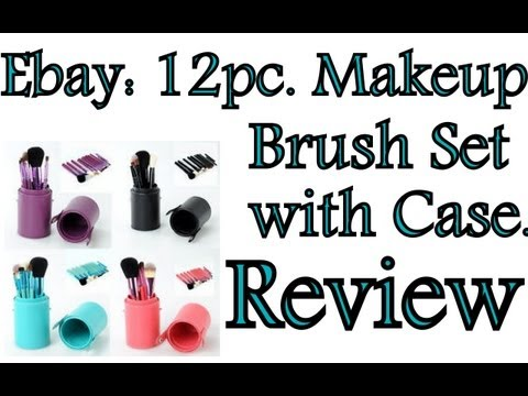 Ebay:12pc Makeup Brush Set with Green Case Review