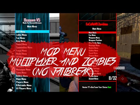 Black Ops 2 Mod Menu (MULTIPLAYER/ZOMBIES) [NO JAILBREAK] (PS3/OFW