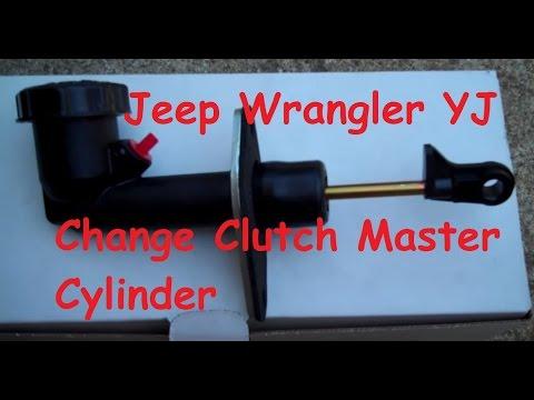 Jeep Wrangler Clutch master Cylinder change out