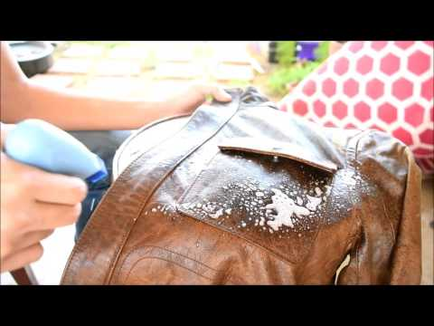 ASMR LEATHER JACKET CLEANING