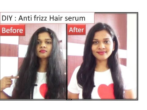 DIY Hair serum to remove frizzy hair | Starnaturalbeauties