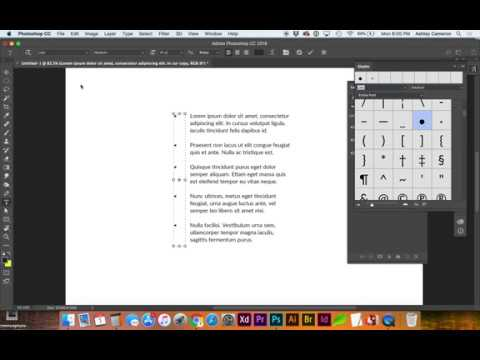 Quickly Add Standard Bullet Points to Text in Adobe Photoshop