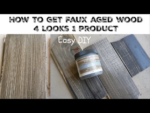 DIY WEATHERED AGED WOOD USING GLAZE \\ Momma From Scratch