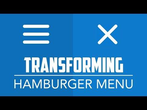 Transforming Hamburger Menu - Animated Toggle Nav Button with HTML5, CSS3 and jQuery