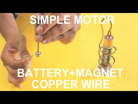 World's Simple Motor With Battery And Magnet And Copper Wire (Two Types)