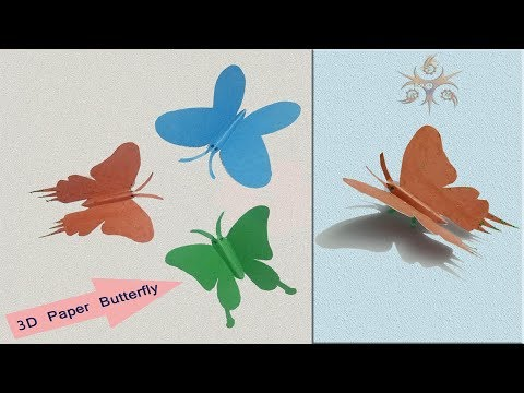 How to make 3D Butterfly using Paper | 3d butterfly Crafts idea – M I MUNNA