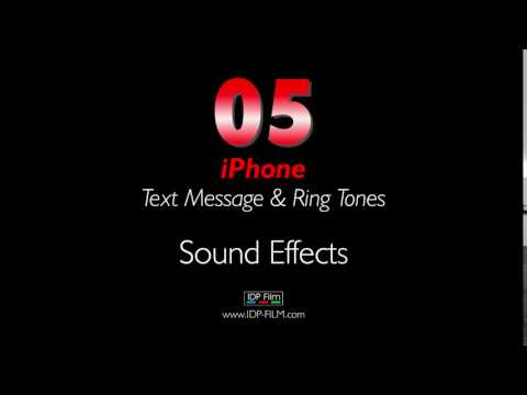 iPhone Message Sound Effects HD - MOBILE Ring Tones 05 - Text Tone