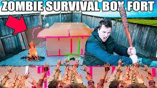 BOX FORT ZOMBIE SURVIVAL BASE!!  📦😱 The Walking Dead Box Fort!