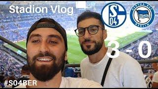 Fc Schalke 04 vs Hertha Berlin souveränes 3-0 | zwei Eigentore im Spiel #stadionvlog