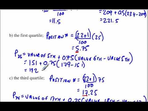 Percentiles and Quartiles 3