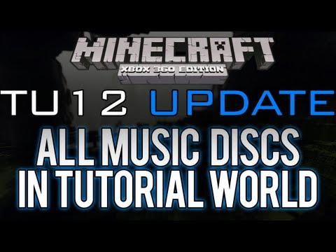Minecraft: Xbox 360 - ALL MUSIC DISCS IN THE TU12 TUTORIAL WORLD (Title Update 12)