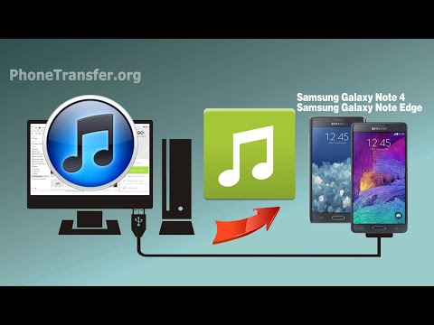 How to Sync Music & Playlist from iTunes to Samsung Galaxy Note 4 / Note Edge