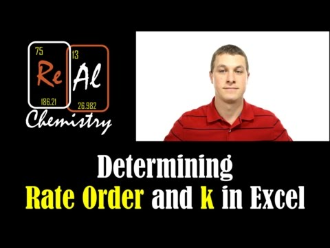 Finding rate constants and order with excel 2013 - Real Chemistry