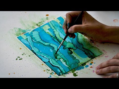 Making Backgrounds with Alcohol Inks | Brush Techniques | Tips | Inspiration