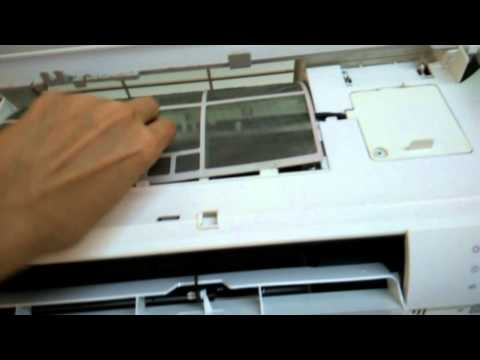 How to open Samsung air conditioner cover Part 1