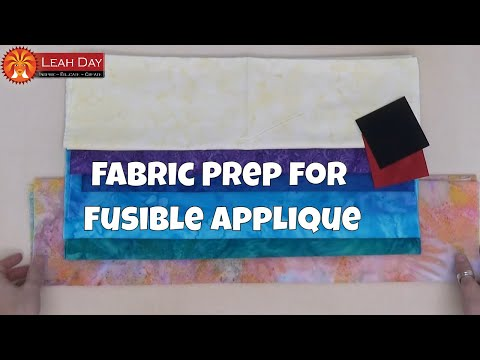 How to Prepare Fabric for Fusible Applique - Goddess Quilt Kit