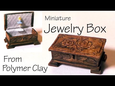 Miniature Jewelry/Music Box - Polymer Clay Tutorial