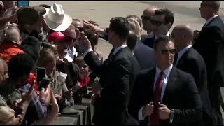 MILITARY LOVE: President Trump SURPRISES Troops in San Diego - MUST WATCH