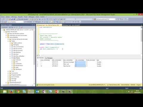 Update Table modification des données d'une tables SQL Server