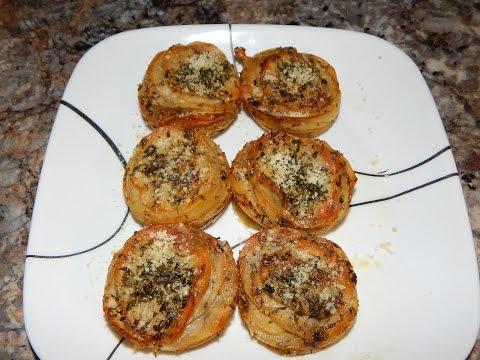 Parmesan Potato Stacks Recipe - Potato Appetizer