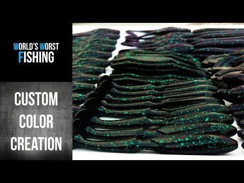 How To Make Soft Plastic Baits, Custom Color Creation