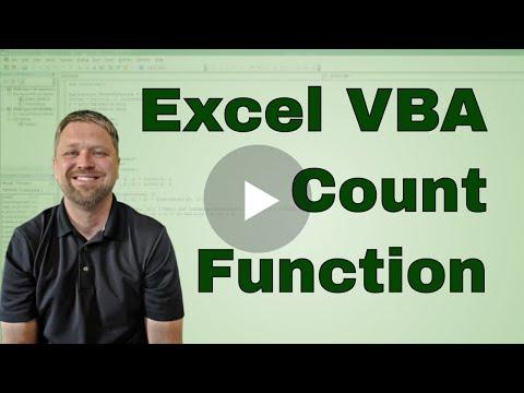 #2 VBA  Excel Count Function in VBA Code