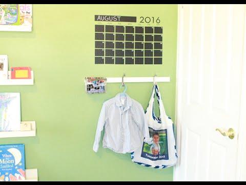 GETTING READY FOR SCHOOL !! ORGANIZING : Installing a Hook Bar :)