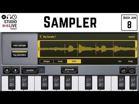 Sampler in GarageBand iOS - Record and Play Samples (iPhone/iPad) - Quick Jam #8