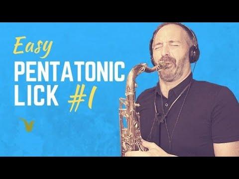 Easy Pentatonic Lick for Saxophone