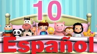 Diez había en la cama | Canciones infantiles | LittleBabyBum