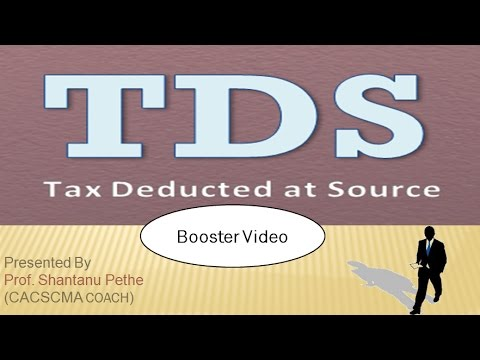 TLP = Tax Deducted At Source TDS for CS Executive CA IPCC CMA