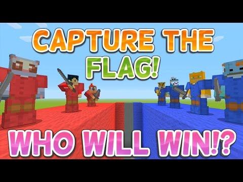 Minecraft Xbox - CAPTURE THE FLAG!!