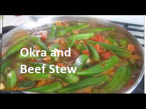 Iraqi Okra (Frozen) and Beef Stew/ مرقة البامية باللحم / recipe#146