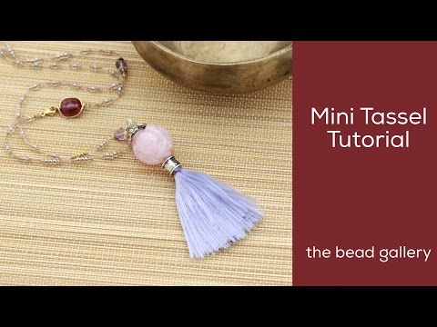 Mini Tassel with One Carded Nylon at The Bead Gallery