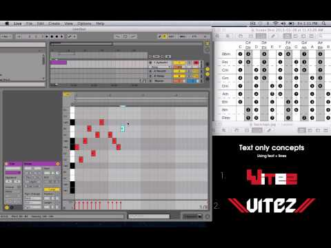 Ableton Live 9 How to Make a Melody Tutorial [FL, Cubase, Logic, Reason] Cheatsheet