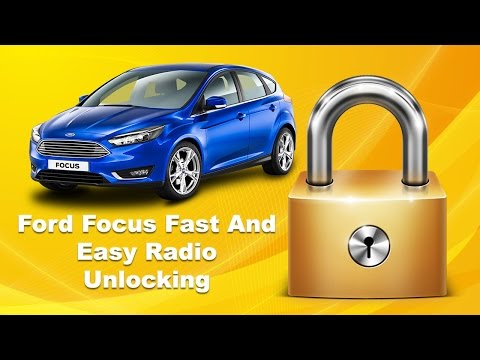 How To Unlock Ford Focus Radio Code Serial Unlock Fast Stereo Code