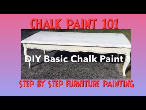 How to Use Chalk Paint- Basic White Chalk Painting a Table