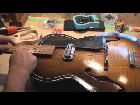 How To Set The Floating Bridge on a Archtop Guitar