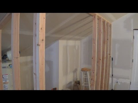 How to Frame a Wall with a Sloping Ceiling