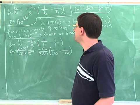 Arrhenius equation. Activation energy (6)