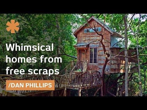 Dan Phillips turns backyard scraps into whimsical Texan houses